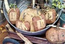 Harvest Primitives / Decorating ideas for the Harvest season!