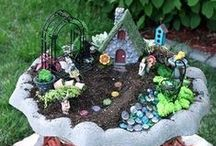 Fairy Gardens / Great ideas on how to make fairy gardens, furniture and growing small plants to fit into the garden too! Also, how to decorate and create a darling fairy garden!