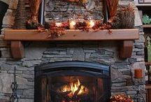 Autumn Fireplace / Decorative Fireplace Mantels