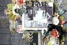 Scrapbooking / These are or should be, tractional scrap pages.  Enjoy the divine inspiration and get scrappy.