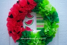 Wreaths & Front door ideas / by Kenda