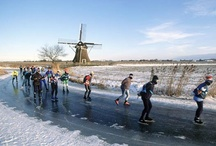 Outdoor Sports in The Netherlands / Typical Dutch  outdoor activities like ice skating and biking.
