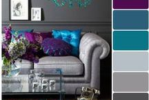 Home - Crafty - Color Palettes & Ideas / for color choices and great combos
