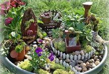 fairy garden ideas / by Bobbie Garza