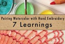 Embroidery Tips for Beginners / If you're new to hand embroidery, learn about fabric and needles, embroidery stitches, working with different types of embroidery floss and more!