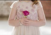 Get Glam | Flower Girl Style / Your littlest attendant can look glam too. Ideas for dressing your flower girls. #flowergirldress #flowergirlideas #flowergirlstyle