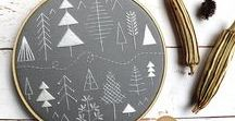 Winter Stitching & Sewing Crafts / DIY winter and holiday crafts for the person who likes to sew and embroider!