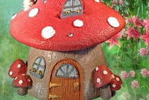 Fairy Houses / Welcome to Enchanted Garden's collection of miniature fairy houses.  From grand fairy estates to the tiniest of fairy homes you're sure to find a house that your garden fairies would be proud to call home.
