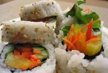 Dining on ~ Sushi / Japanese Sushi - beautiful eating. / by Debi Driscoll