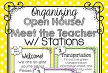 Classroom: Open House/Back to School Night/Conferences / Ideas for successful back to school nights, open houses, sneak-a-peeks, and parent conferences.