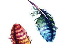 As Light as a Feather / Birds of a Feather flock together ; Clothes , home decor, jewelry, accessories
