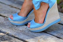 Shoes - Wedges / Shoes, wedges - a raised shoe heel with the heel and sole forming a solid block