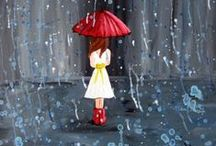 Rainy Days / I'm singing in the rain....  Clothes , home decor, jewelry, accessories