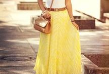 Mostly Me - Maxi Skirt / Spring Summer Maxi Skirt