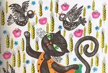 Cat Art - Cats n Birds / Cat Art, Painting, Sketches, Prints
