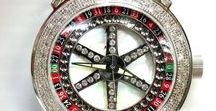 Roulette Wheel Watches / The perfect timepiece for enthusiastic players & casino people.