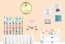 Nursery Design: ORANGE & CORAL