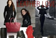 Leather Love / Chic leather pieces that add that extra sense of prowess! An edgy while versatile piece of luxury!