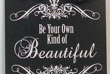 Black and White Beauty Quotes / Beautiful black and white photos with quotes about beauty.  What could be more beautiful?