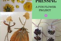 Grand Flower Projects / Things to make and do with flowers, including different ways to make flowers and different crafts using flowers. http://gleefulgrandiva.com