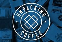 Unpacking Coffee podcast / Unpacking Coffee is a weekly video podcast discovering new coffee one roaster, one episode at a time.  unpackingcoffee.com / by Needmore Designs