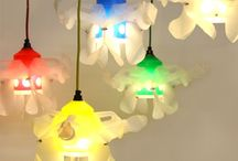 My reuse lamps / All lamps are made by myself.