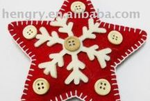 H - Christmas: Felt/Stitch Ornaments / by Pamela Gagne-Southern