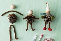 Christmas Crafts for Kids / Delight in the joy of crafting together! Kids love to make special gifts for their friends and family. Start a tradition of crafting together for the holiday with the inspiration within.
