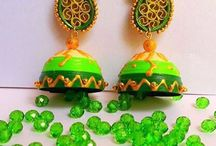 My Quilled Ear rings / Quilled Indian Jhumkas