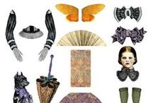 Craft – (Jointed) Paper Dolls and Paper Stuff / Fold at the dotted line!