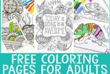 Adult Coloring / Coloring sheets and color inspiration for grown ups.