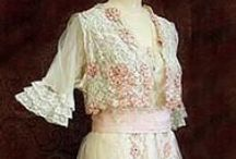 Edwardian fashion / I am interested in historic fashion. And sometimes I use it for my watercolors (my paintings and postcards) I love the history behind it. The changes and the difference in ideas through history. I love the patterns, the textiles, the colors and the craftmanship.