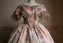 Historic Fashion 1830-1865 / I am interested in historic fashion. And sometimes I use it for my watercolors (my paintings and postcards) I love the history behind it. The changes and the difference in ideas through history. I love the patterns, the textiles, the colors and the craftmanship.