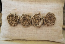 Crafts & DIY ~ Burlap & Drop Cloths / Crafty projects and inspiration for burlap and drop cloth projects.
