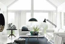 home decor / #home #decor #decoration #furniture #design #room #black #white #loft