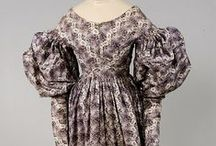 Historic fashion 1830- Gigot sleeves