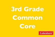 Common Core: Third Grade / Lakeshore has you covered with a wide range of products aligned to Common Core State Standards for third grade! / by Lakeshore Learning