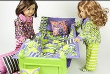 Let's Play Dolls / Fabric collection designed by Firetrail Designs.