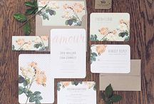 invitations / save the dates / stationary / for my friends who let me experiment with their wedding. / by Emma Van Buskirk