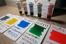 Ink Drop / Swatches, writing samples, and artwork made with ink samples from our monthly Ink Drop program!