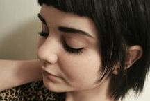 hair: short-medium / Short (non pixie hair) through shoulder length styles / by Megan Stimpson