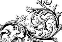 swirls, scrolls