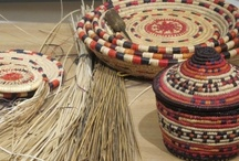 Basket Weaving in Israel / Handwoven baskets from palm fronds started as a hobby for kibbutz members at a kibbutz in the south of Israel. Soon the baskets became sought after by collectors in Europe. Once a year kibbutz members travel to a fair in France and sell their handmade baskets.