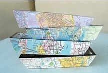 Map Crafts  :) / Cool ideas using using maps!
