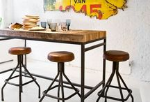 Industrial interior / Decorating for a home / by Vicki Mason