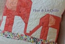 PILLOW SHOW / A few of the pillows I've made over the last year or two.  Most are quilted pillow covers and can be made in any color or theme.  Email me if you have questions or interests: mary.marcotte@gmail.com. / by Fleur de Lis Quilts and Accessories