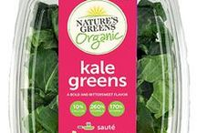 Nature's Greens Products / Nature's Greens is a complete line of triple-washed, ready-to-use greens such as kale, collard, mustard and turnip greens, along with greens blends.