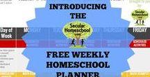 Secular Homeschool Organization / homeschool organization ideas.