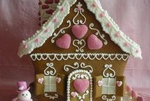 Gingerbread House / The Gingerbread house I'd love to make. Not only baked