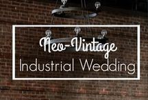 Neo-Vintage Industrial Wedding / This neo-vintage industrial styled shoot will leave you with a ton of bright ideas, so settle in and get ready for some serious pretty!